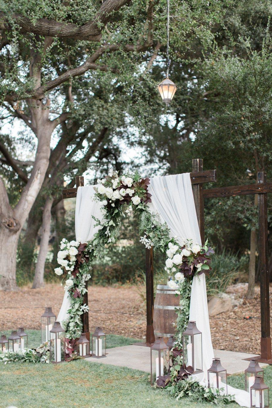 An Elegant Green & White Temecula Wedding via TheELD.com