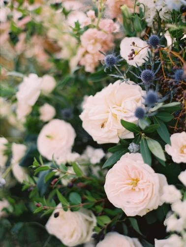 A Romantic Blue & Peach Texas Wedding Day via TheELD.com