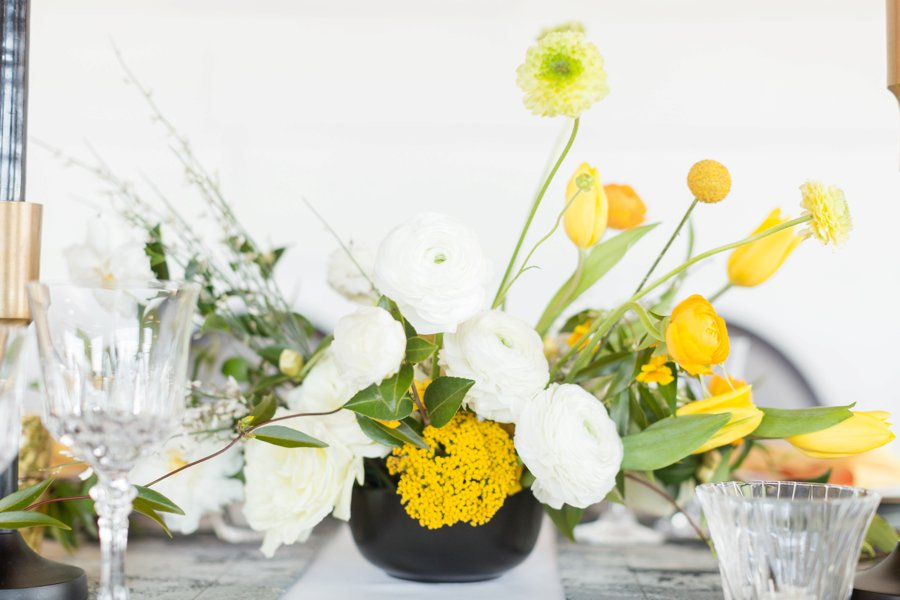 Black & Yellow Modern Minimalist Wedding Ideas via TheELD.com