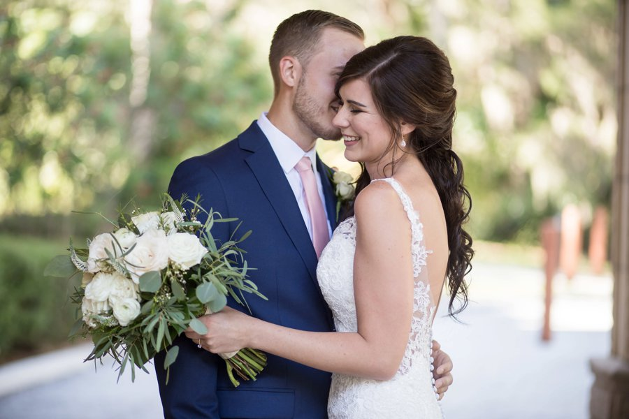 A Pink & Gold Mediterranean Inspired Florida Wedding via TheELD.com