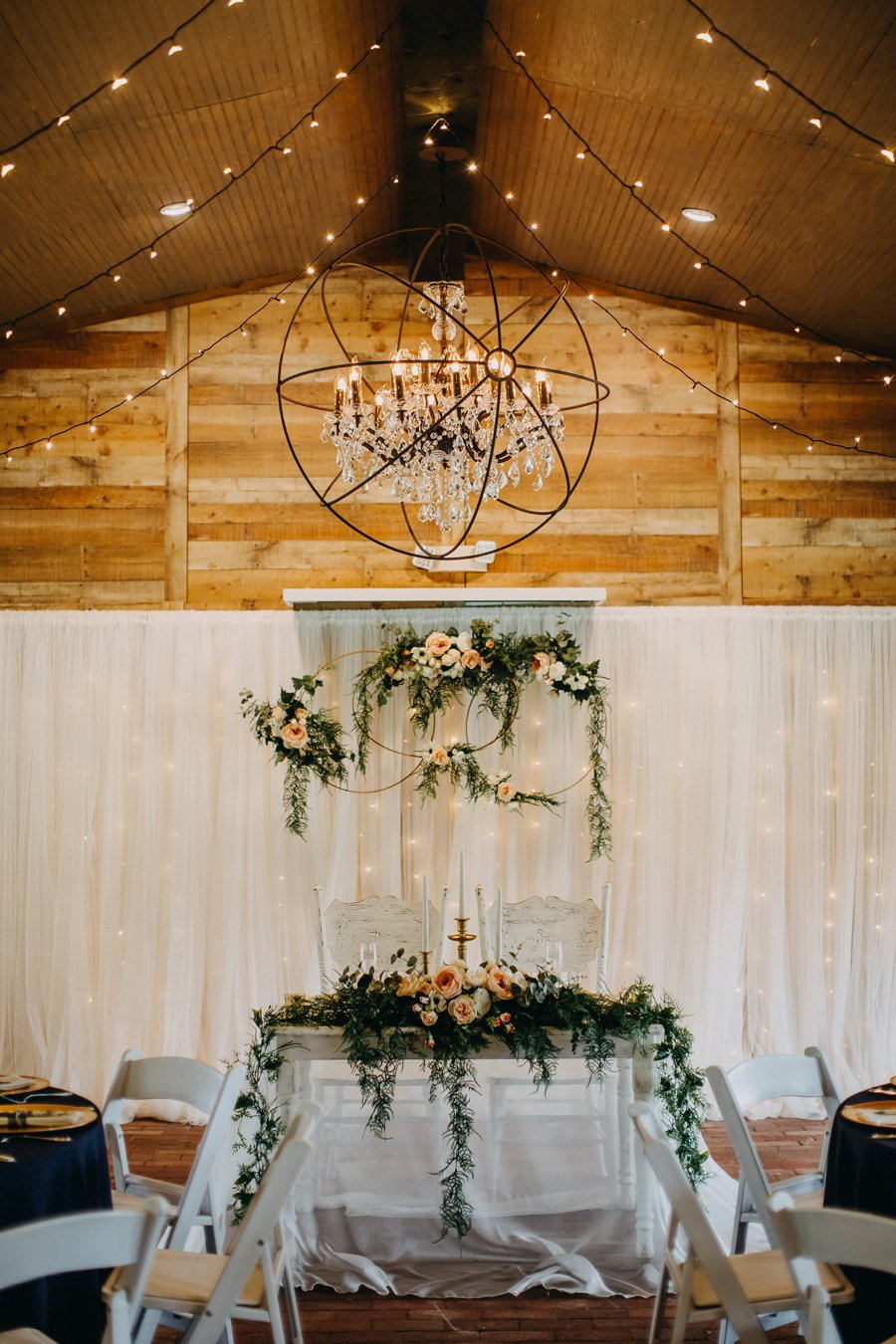 A Navy & Blush Rustic Elegant Central Florida Wedding via TheELD.com