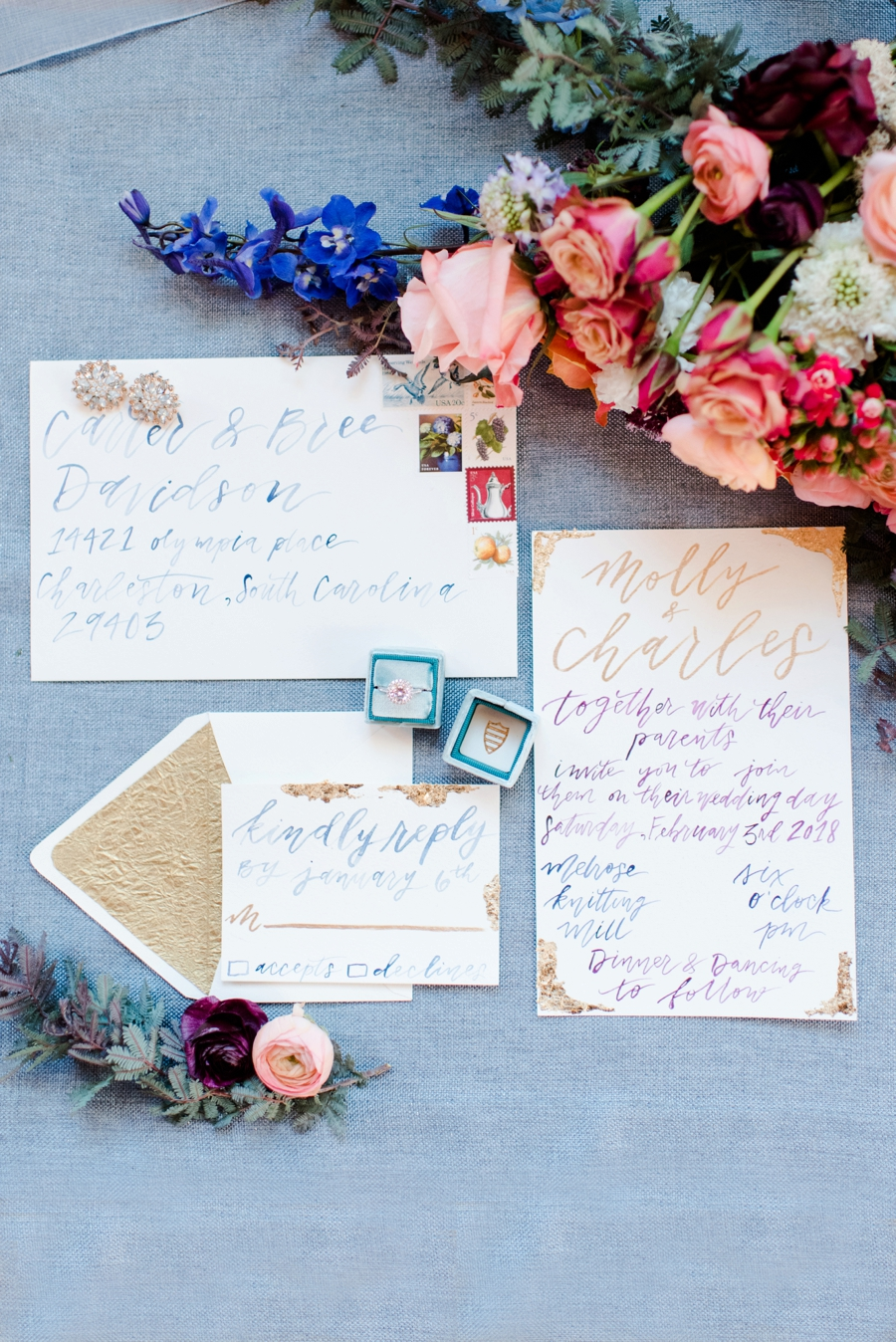 Bold & Colorful Wedding Ideas via TheELD.com