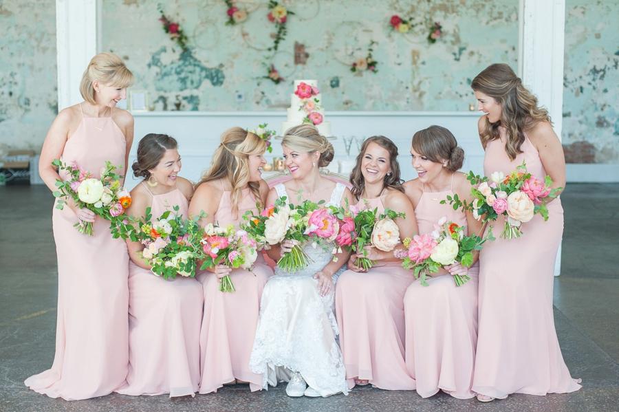 A Romantic Pink South Carolina Wedding via TheELD.com