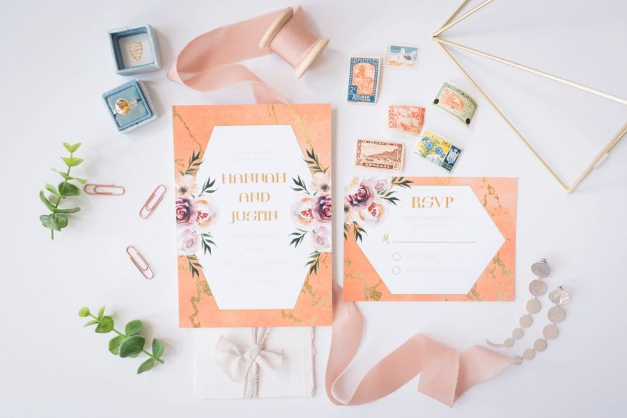Colorful Mid Century Modern Wedding Ideas via TheELD.com