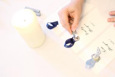 Wax Seal Escort Card Display via TheELD.com