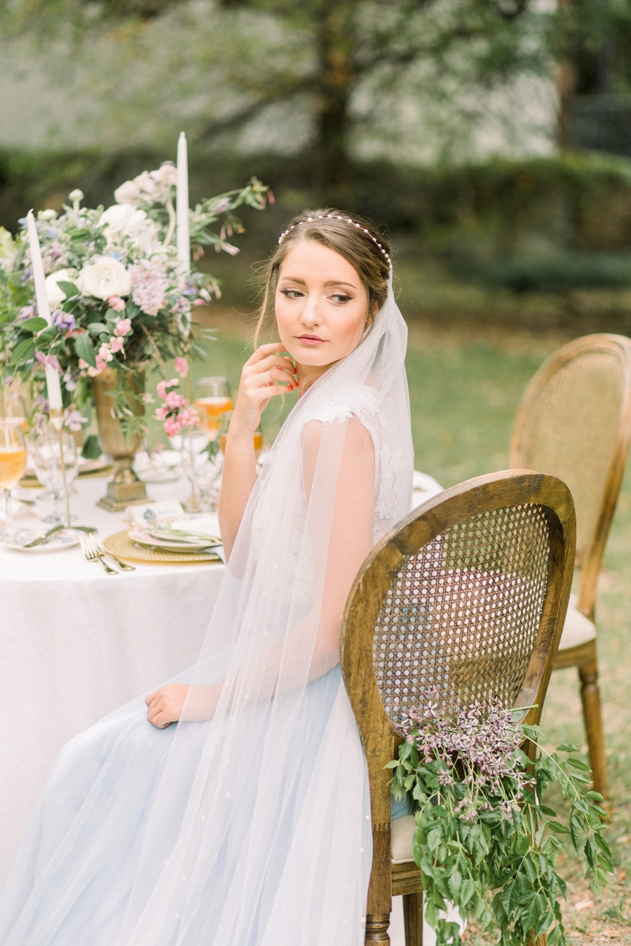 Organic Wedding Inspiration in Lavender and Blue via TheELD.com