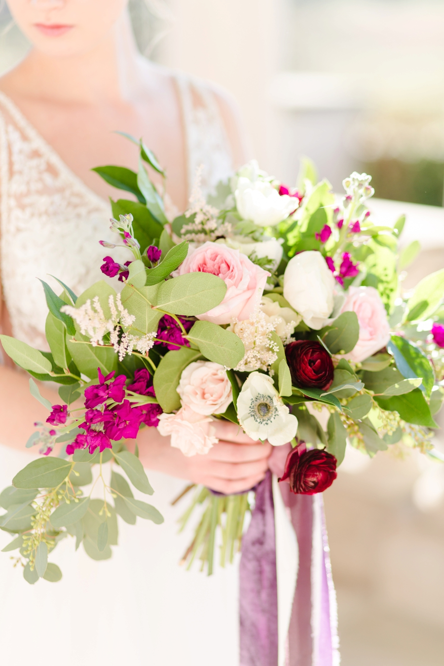 Elegant, Romantic Blush & Plum Wedding Ideas via TheELD.com