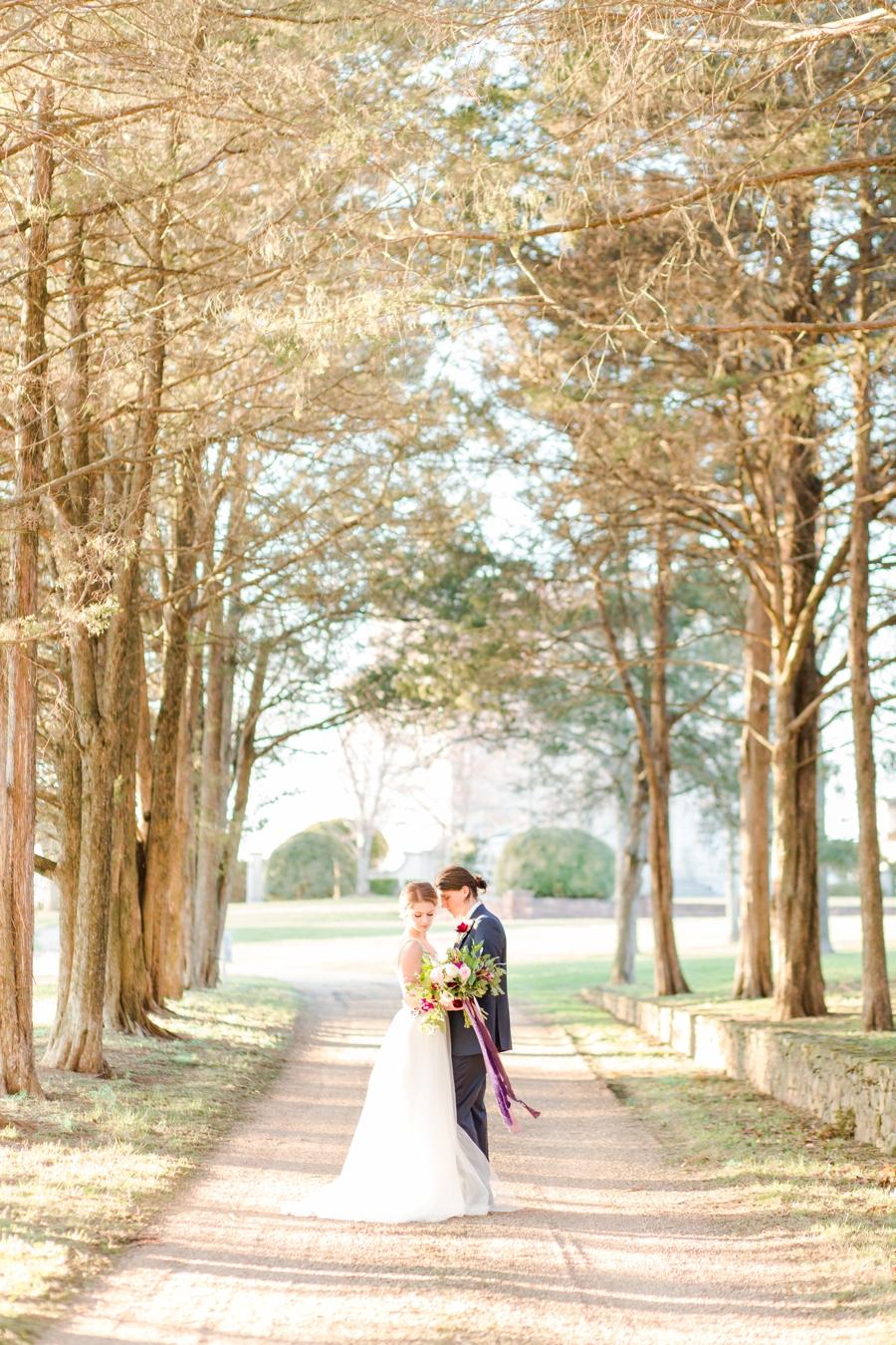 Elegant, Romantic Blush & Plum Wedding Ideas via TheELD.com