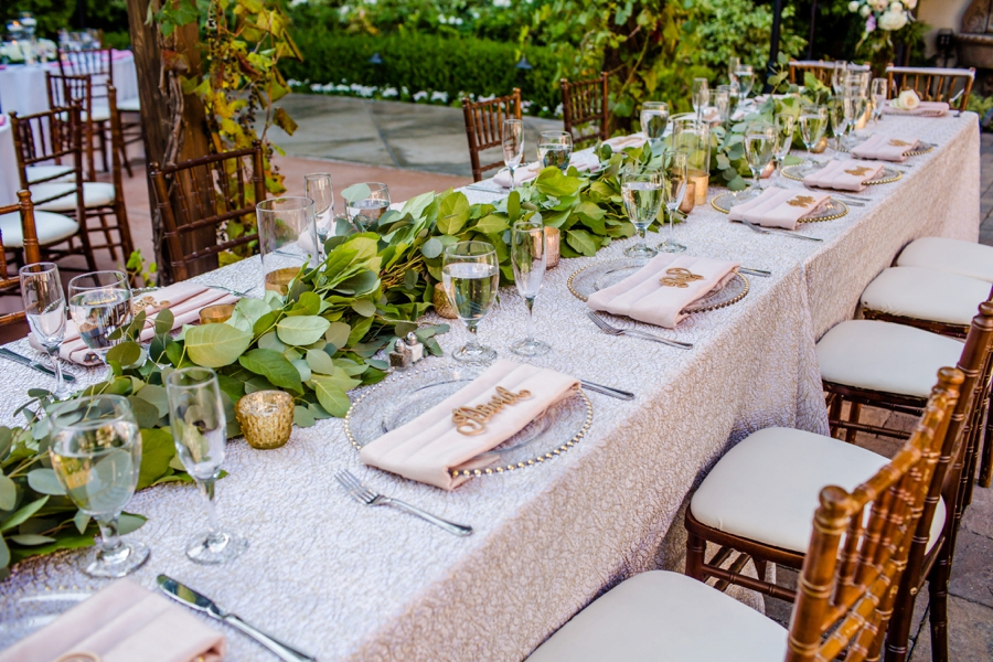 Romantic Blush Franciscan Gardens Wedding via TheELD.com