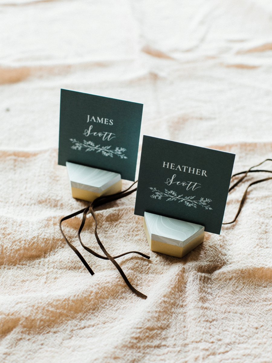 Organic Mountain Wedding Ideas via TheELD.com