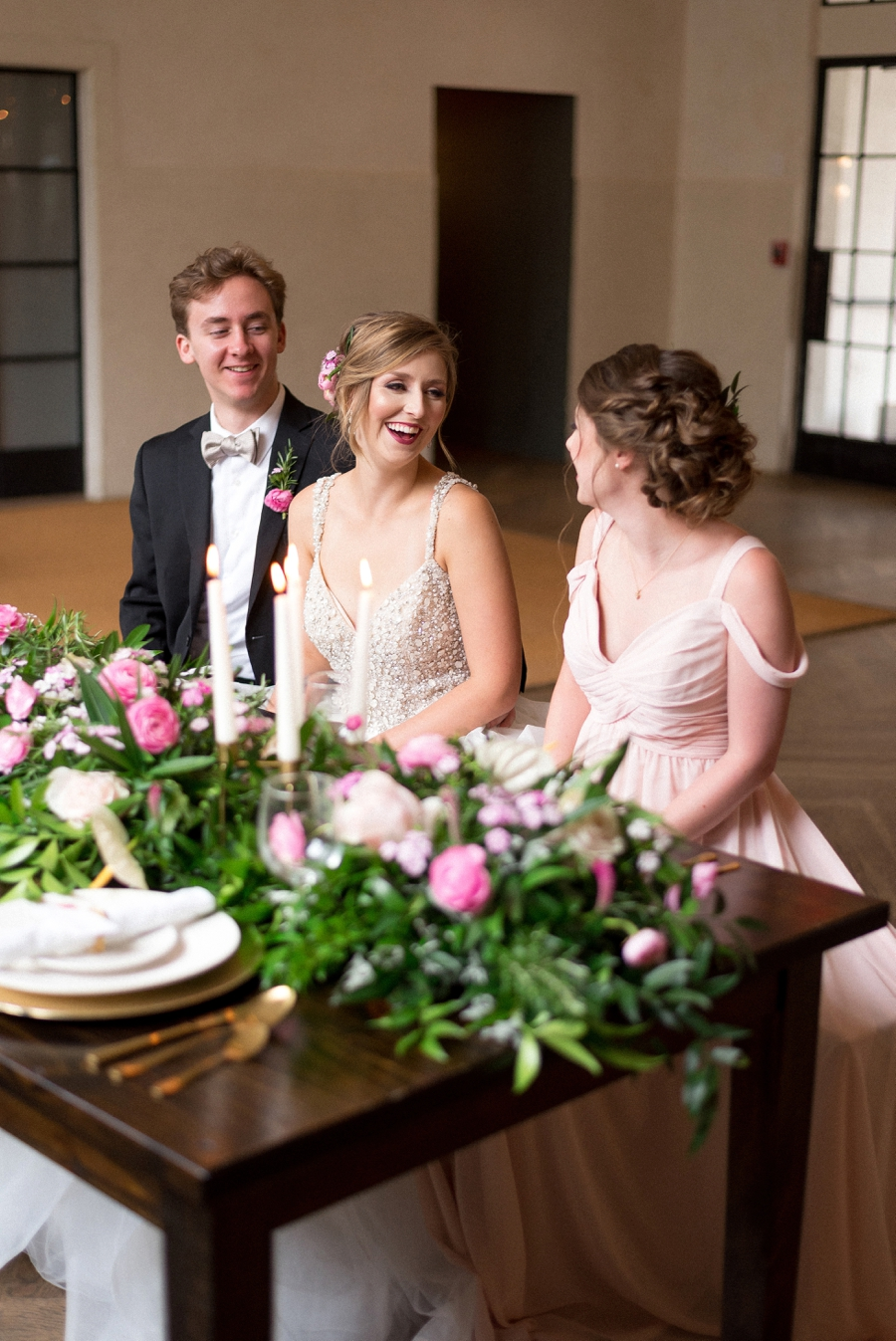 Pink & Gold New Orleans Wedding Ideas via TheELD.com
