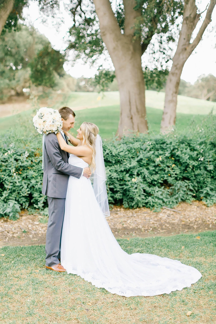 A Romantic Soft Blue Temecula Wedding via TheELD.com