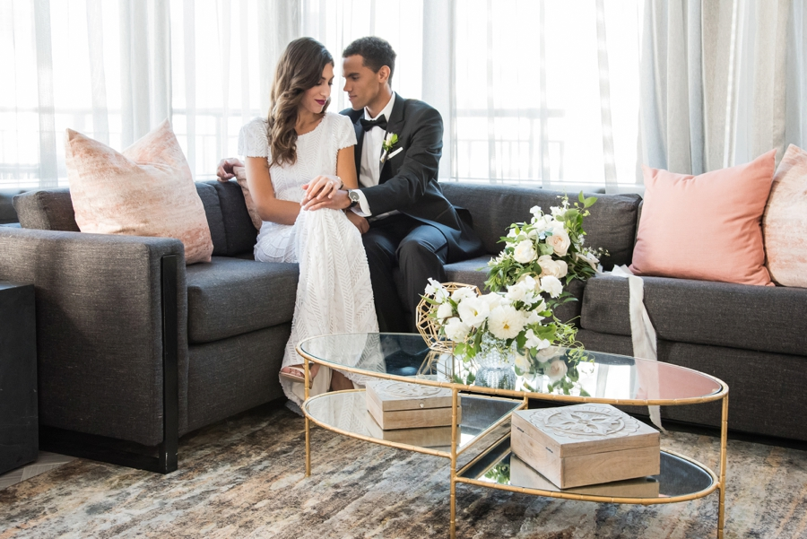 Modern Rooftop Elopement Inspiration With Chic Wedding Day Gift Ideas via TheELD.com modern rooftop elopement inspiration with chic wedding day gift ideas - A Modern Rooftop Elopement Inspiration 0019 - Modern Rooftop Elopement Inspiration With Chic Wedding Day Gift Ideas