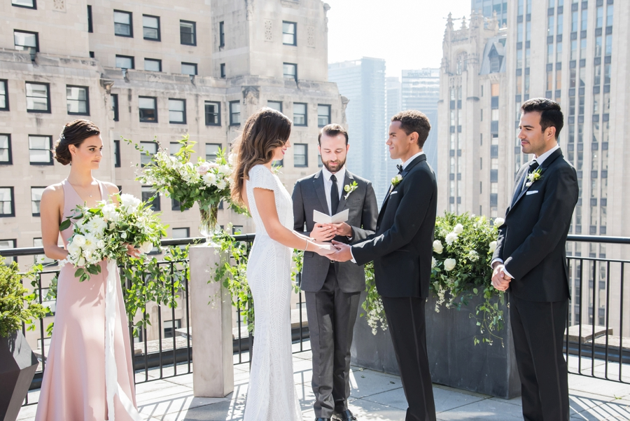 Modern Rooftop Elopement Inspiration With Chic Wedding Day Gift Ideas via TheELD.com modern rooftop elopement inspiration with chic wedding day gift ideas - A Modern Rooftop Elopement Inspiration 0036 - Modern Rooftop Elopement Inspiration With Chic Wedding Day Gift Ideas