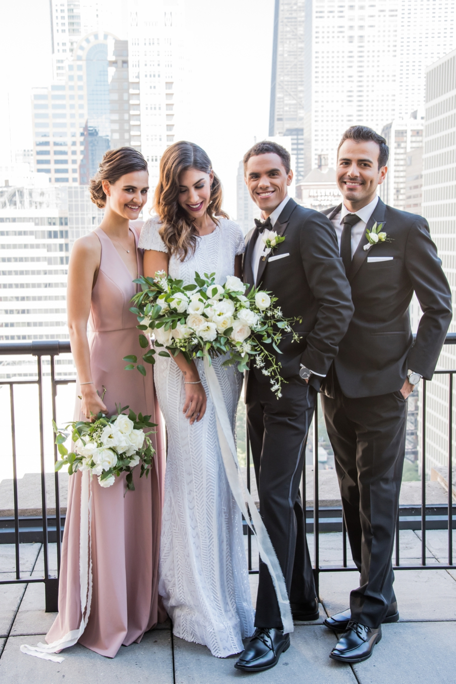Modern Rooftop Elopement Inspiration With Chic Wedding Day Gift Ideas via TheELD.com modern rooftop elopement inspiration with chic wedding day gift ideas - A Modern Rooftop Elopement Inspiration 0041 - Modern Rooftop Elopement Inspiration With Chic Wedding Day Gift Ideas