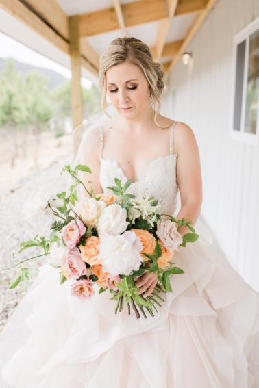 Blush & Peach Colorado Ranch Wedding via TheELD.com