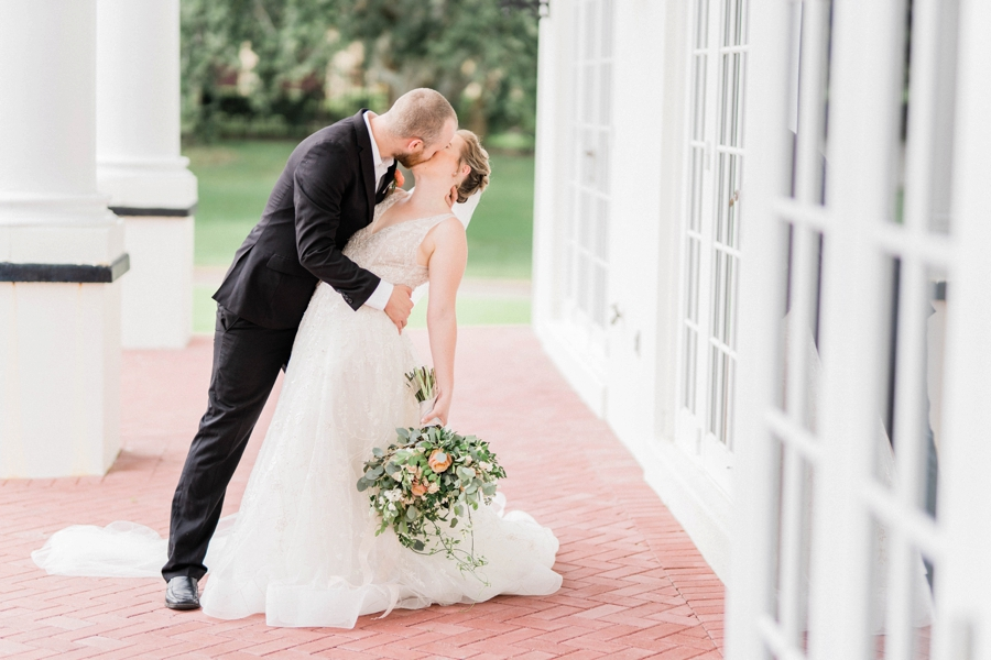 Timeless & Romantic Peach Wedding Ideas via TheELD.com