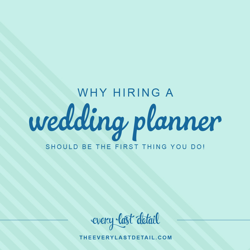 Why hiring a wedding planner should be the first thing you do!  via TheELD.com