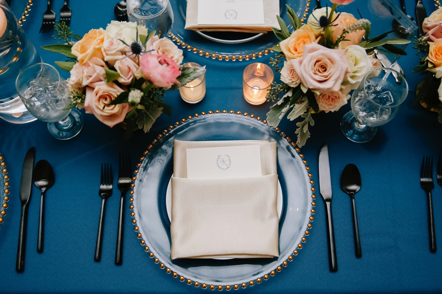 A Romantic Blush & Blue Tampa Wedding via TheELD.com