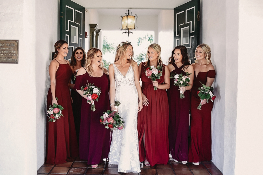 An Elegant Blush & Red Sarasota Wedding via TheELD.com