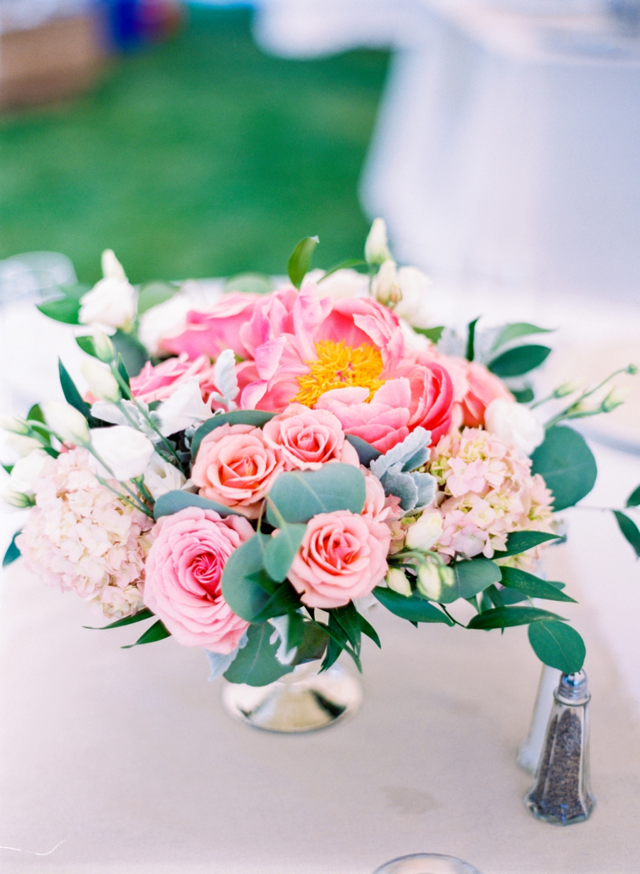 A Nautical Coral & Navy Massachusetts Wedding via TheELD.com