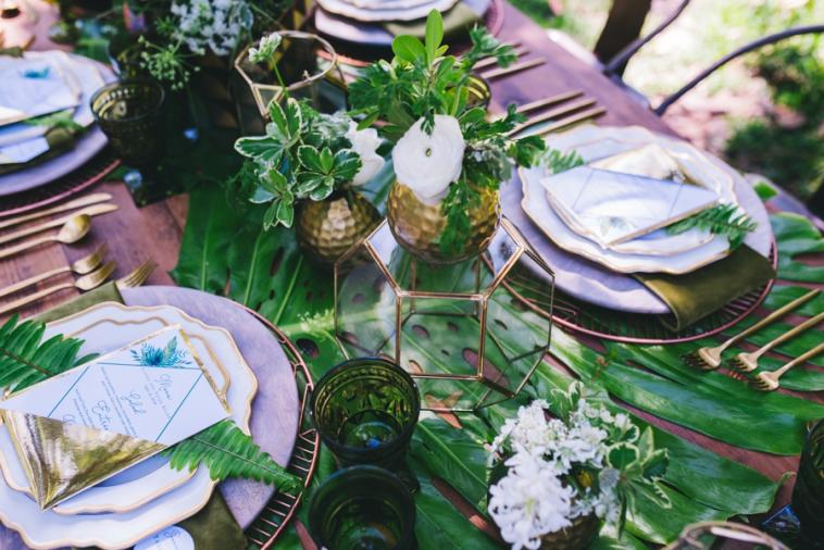 Modern Copper & Green Wedding Ideas via TheELD.com