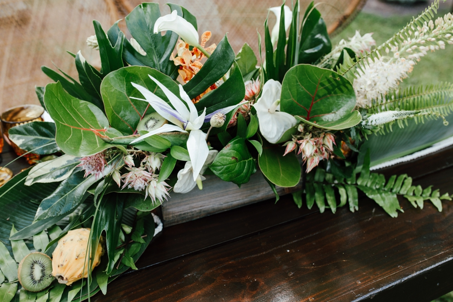 Tropical Bali Inspired Wedding Ideas via TheELD.com