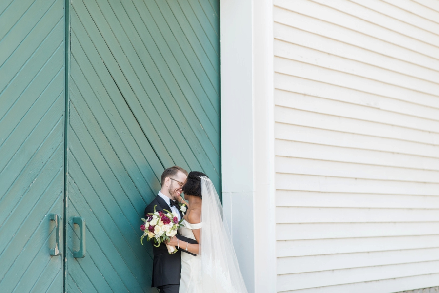 An Elegant Burgundy North Carolina Wedding via TheELD.com