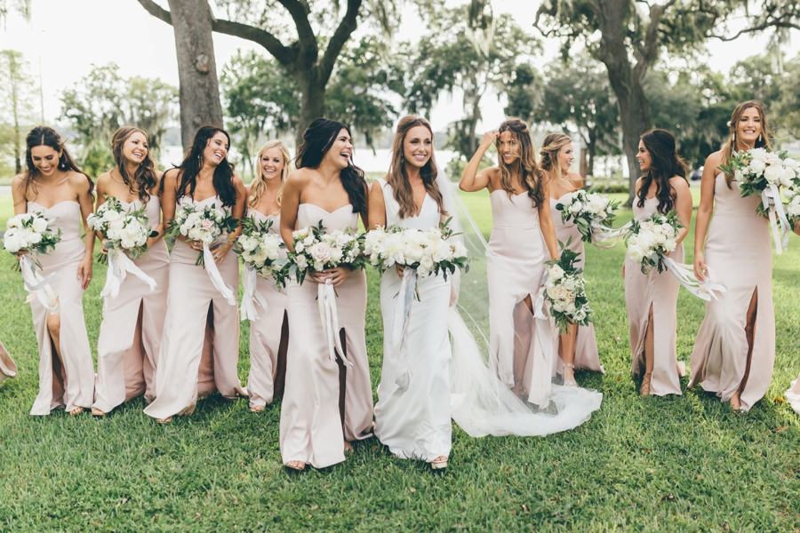 Romantic Blush & White Central Florida Wedding via TheELD.com