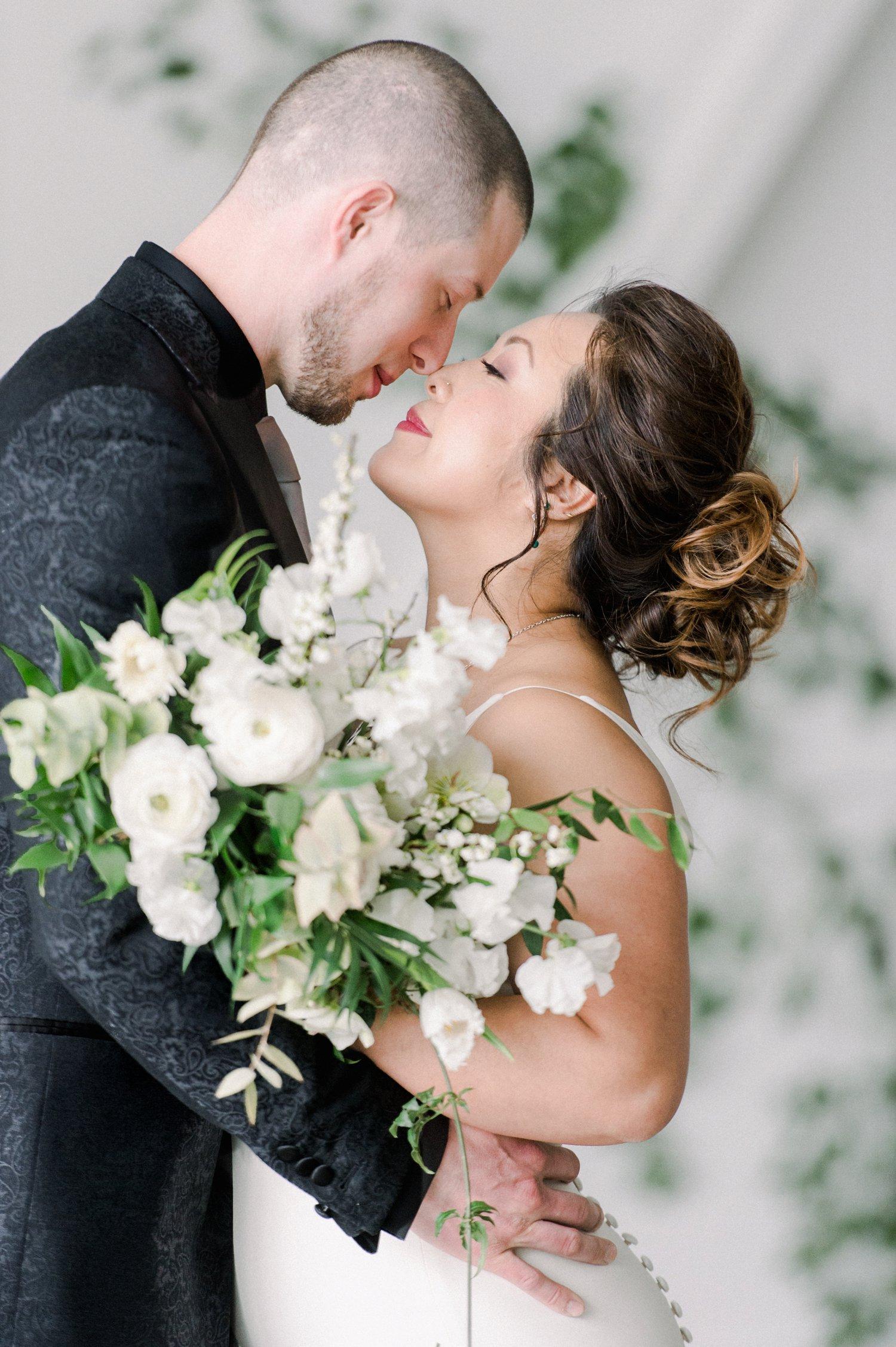 Sophisticated & Modern Green Wedding Ideas via TheELD.com