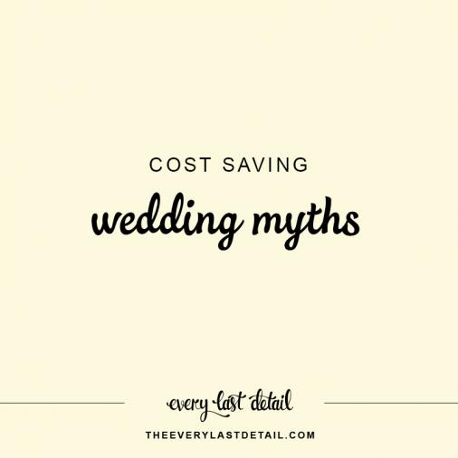 Cost Saving Wedding Myths via TheELD.com