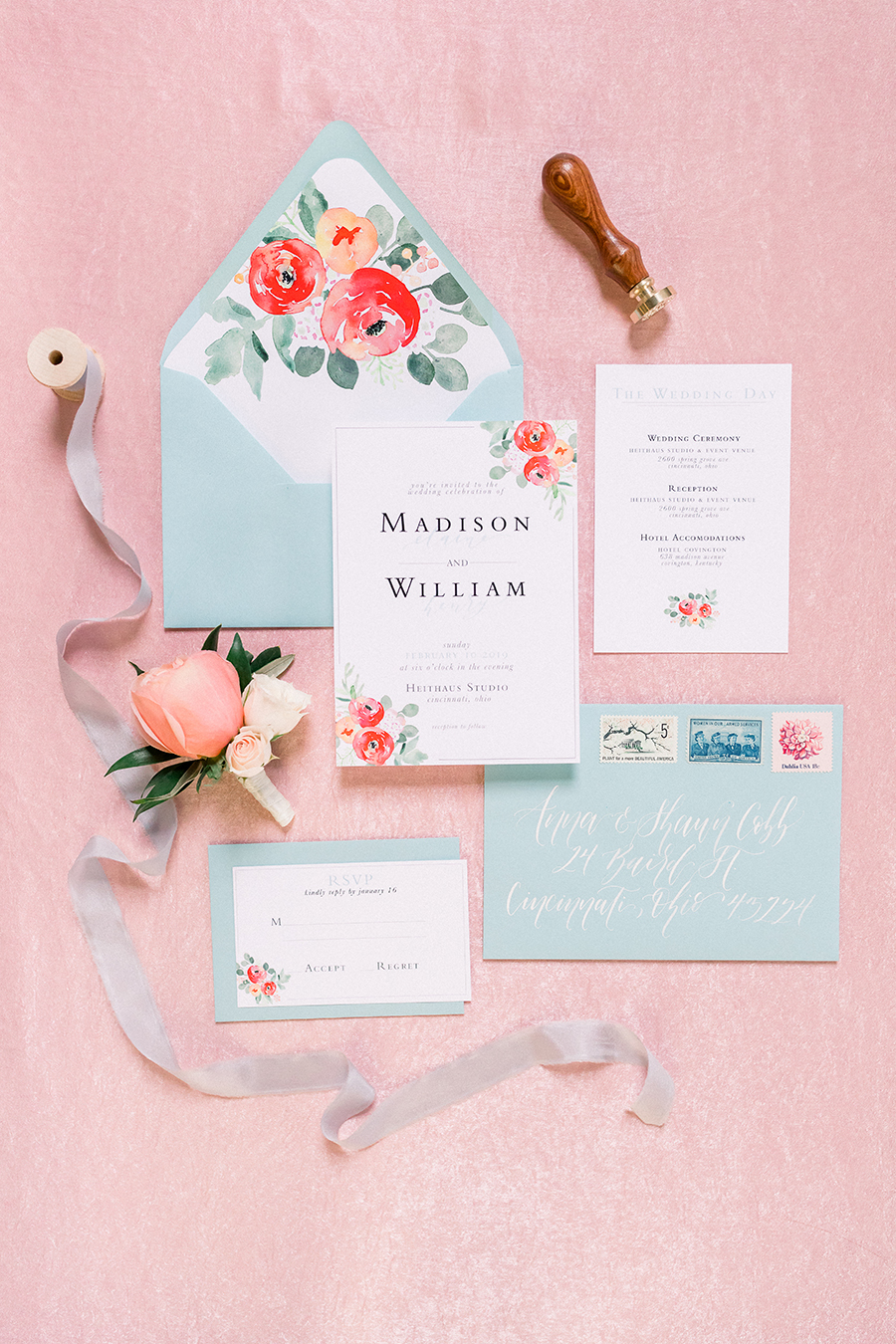 Whimsical Teal and Coral Wedding Ideas via TheELD.com