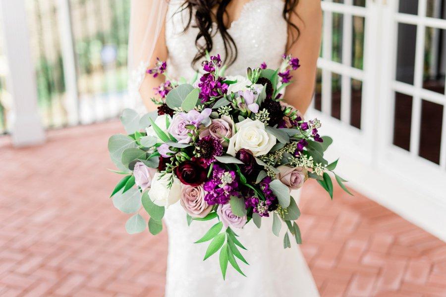 An Elegant Purple Central Florida Wedding via TheELD.com