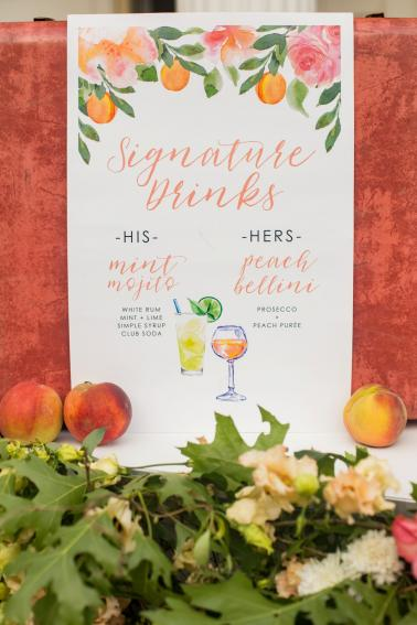 Romantic & Elegant Peach & Coral Wedding Ideas via TheELD.com