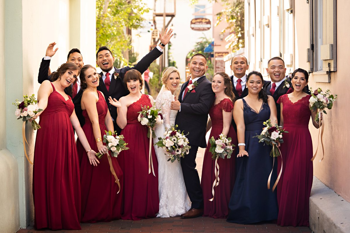 A Romantic Navy & Red St. Augustine Wedding via TheELD.com