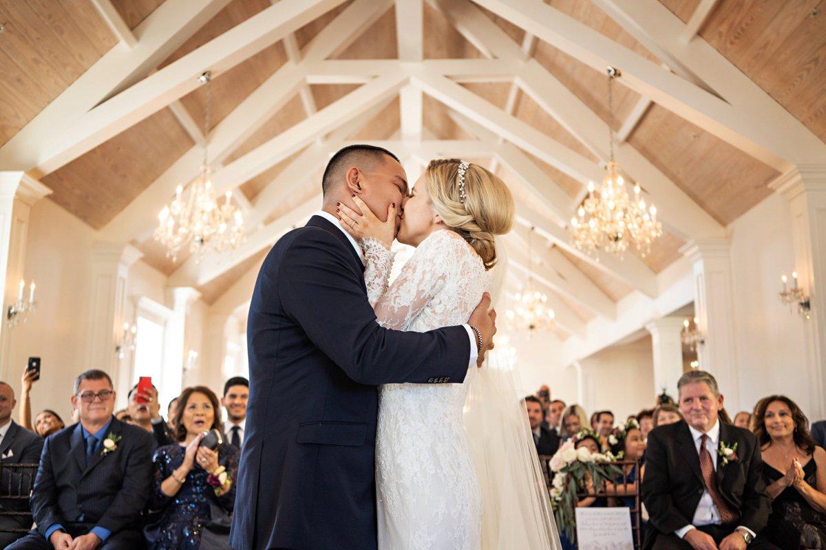 A Romantic Navy & Red St. Augustine Wedding via TheELD.com