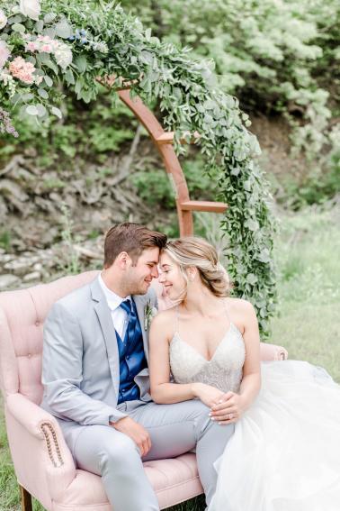 Organic Pink and Navy Wedding Ideas via TheELD.com