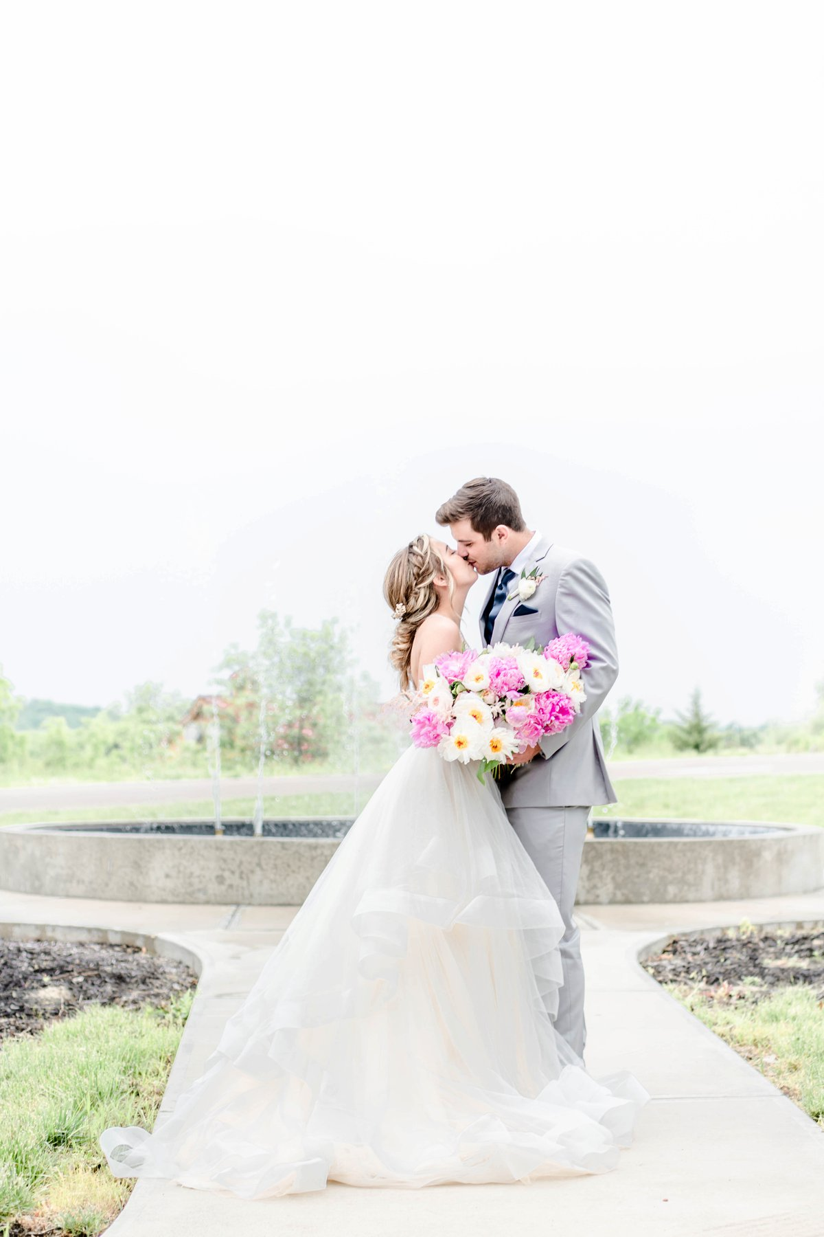 Organic Pink and Navy Wedding Ideas via TheELD.com