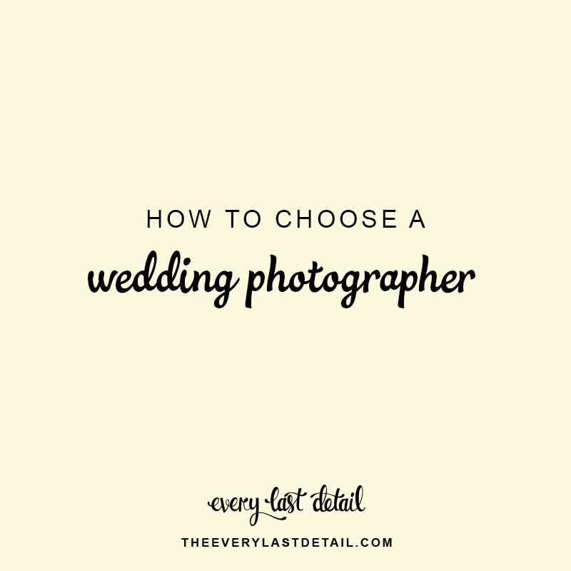 How To Choose A Wedding Photographer via TheELD.com