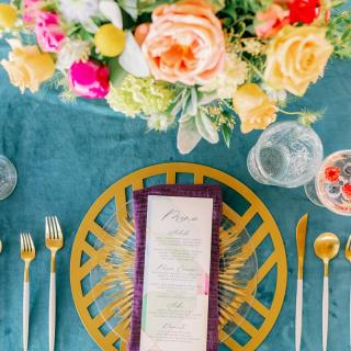 Colorful Mosaic Inspired Idaho Wedding Ideas via TheELD.com