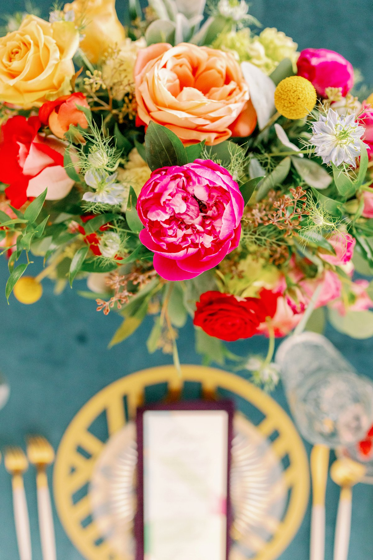 Colorful Stained Glass Inspired Wedding Design Every