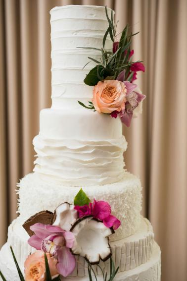 Pink & Coral Modern Sarasota Wedding Ideas via TheELD.com