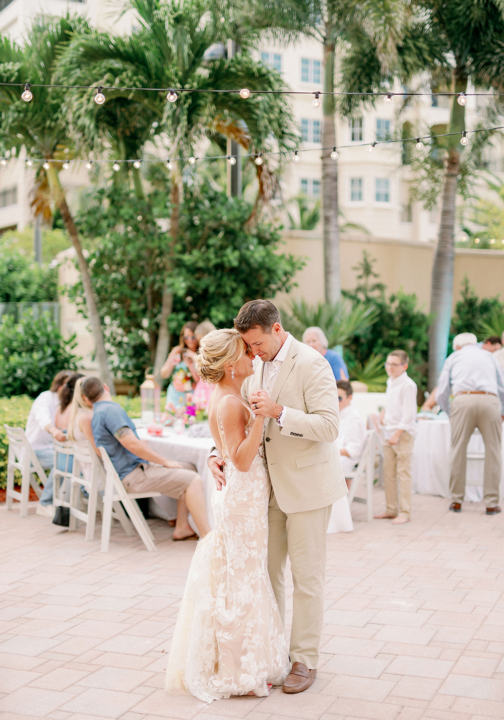Colorful Lilly Pulitzer Inspired Beach Wedding via TheELD.com