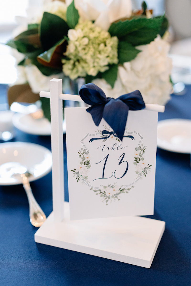 Pantone 2020 Classic Blue for Weddings, Classic Blue Table Numbers