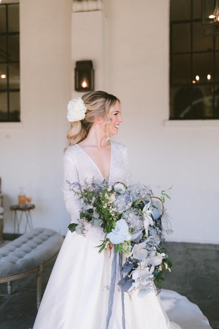 Pantone 2020 Classic Blue Bridal Bouquet, Blue Wedding Inspiration