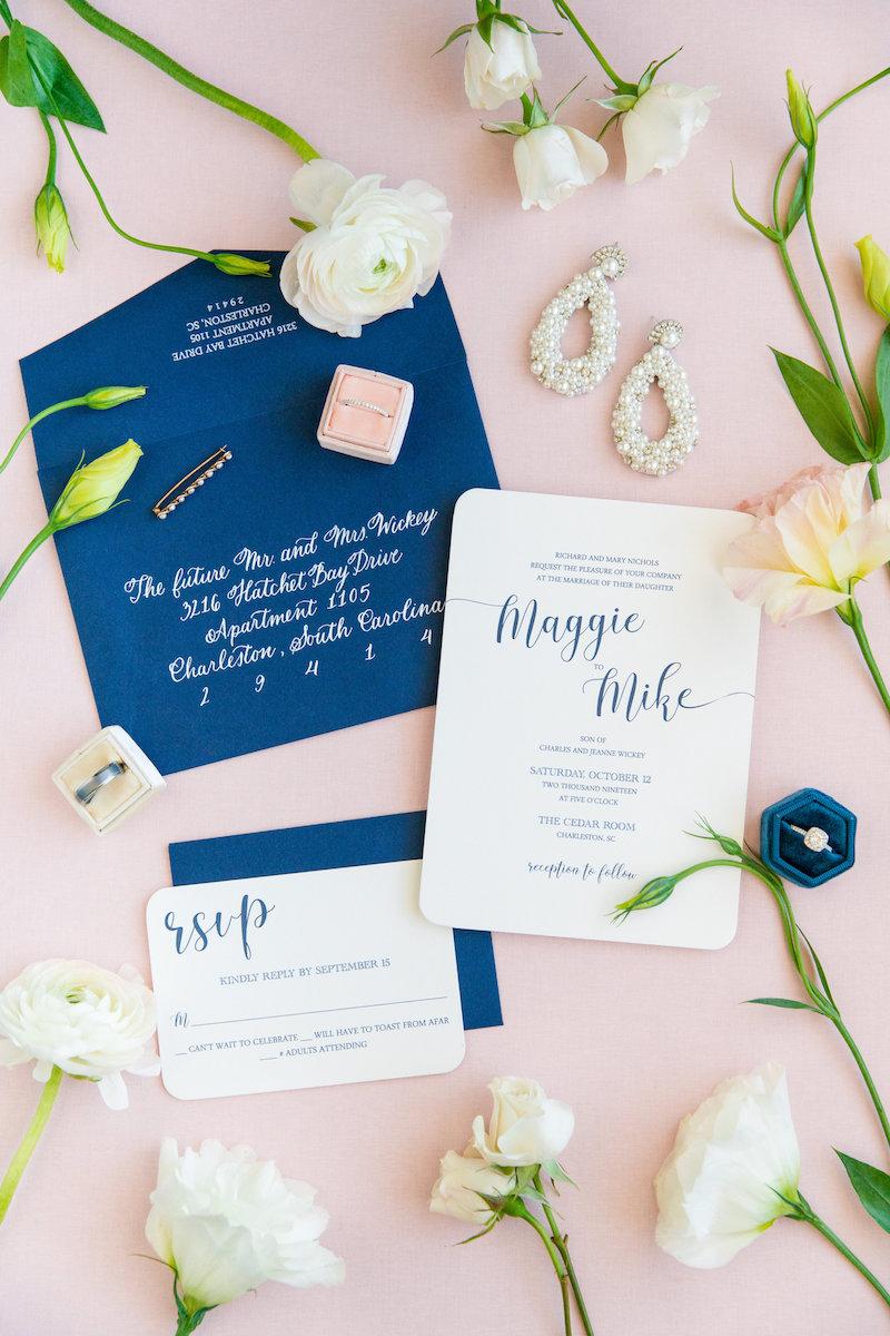 Classic Blue Wedding Invitations, Pantone 2020