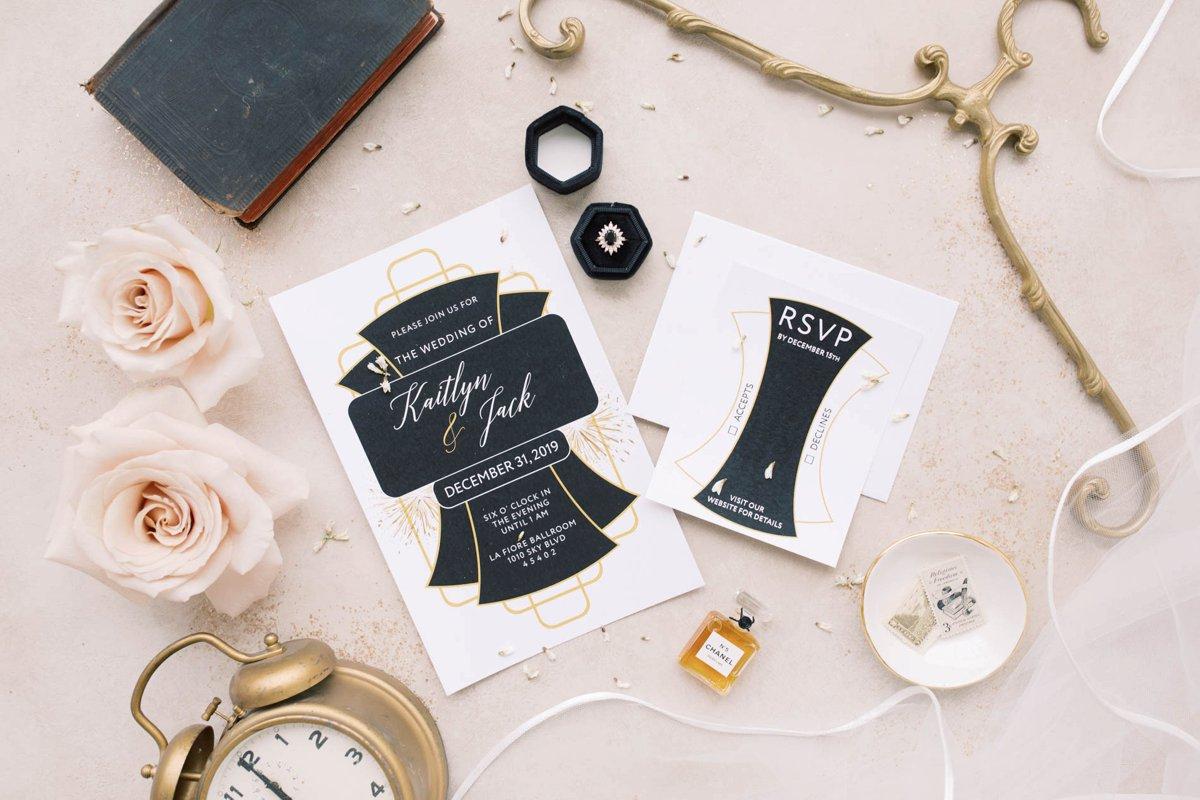 Modern Vintage New Years Eve Wedding Inspiration via TheELD.com