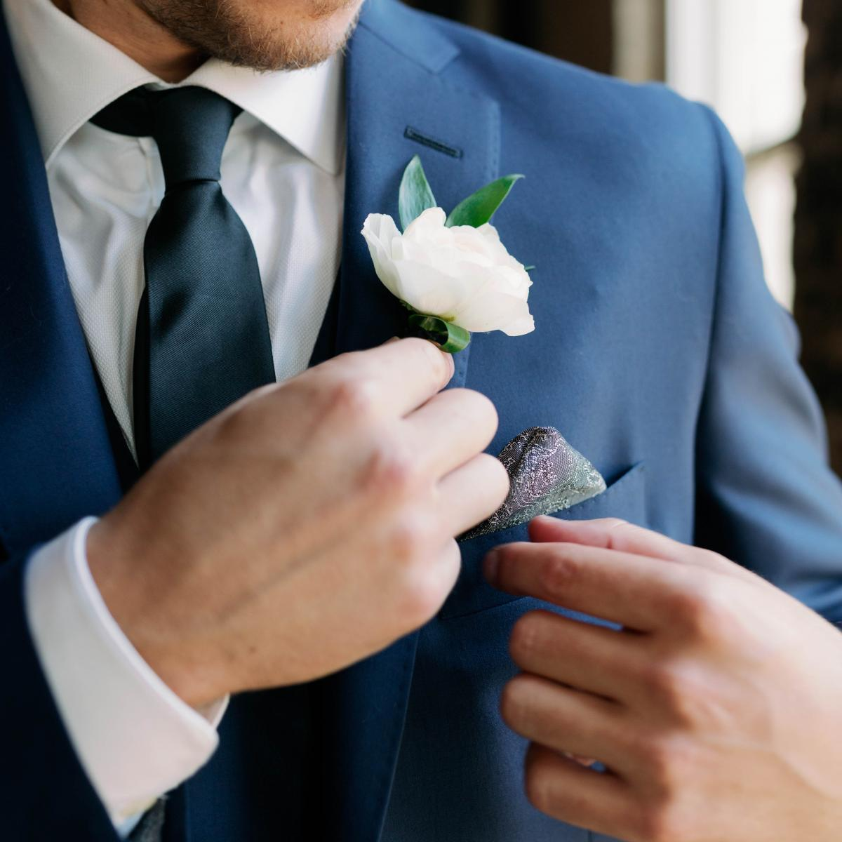 Pantone 2020 Classic Blue Wedding, Grooms suit classic blue