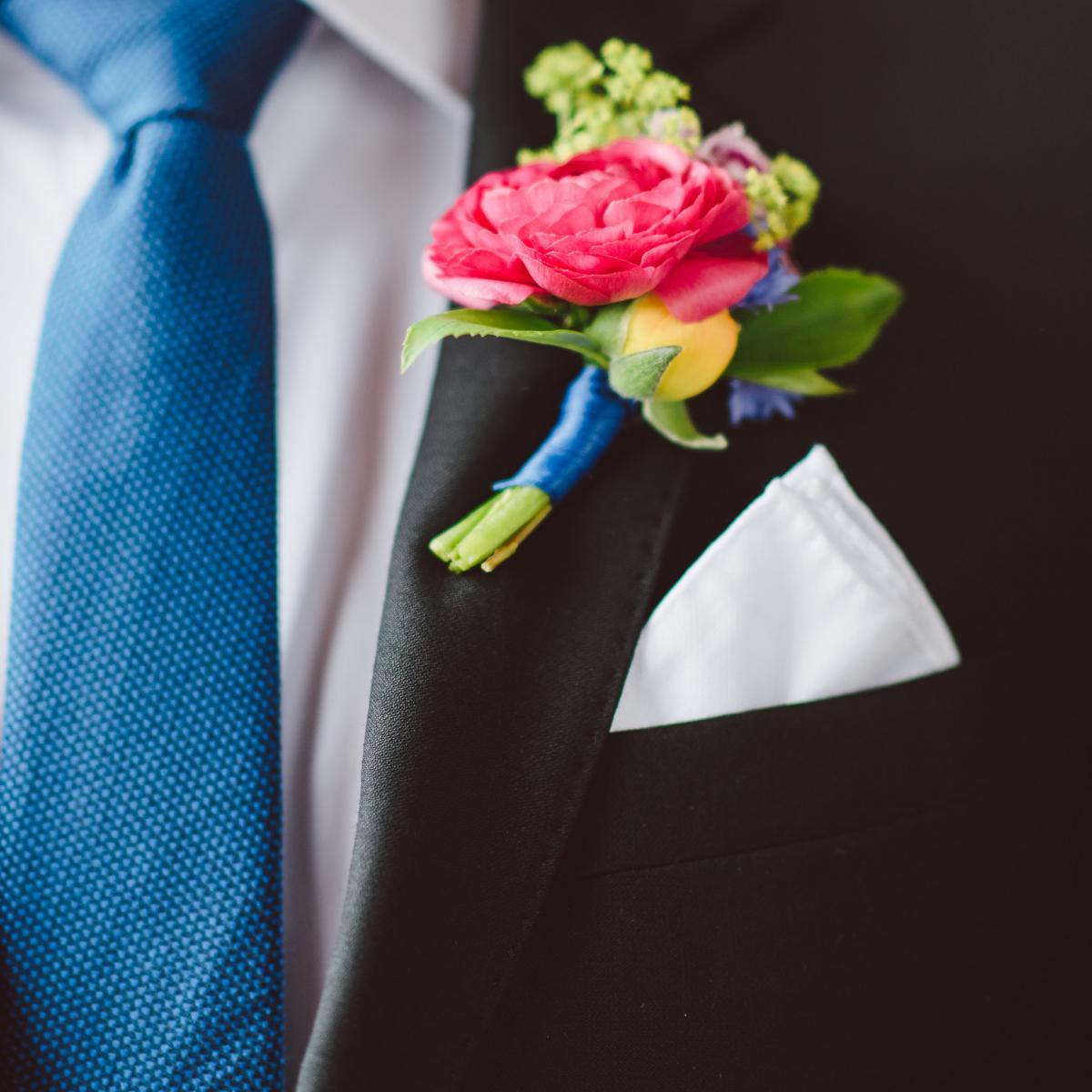 Pantone 2020 Classic Blue Suit, Blue Grooms Suit