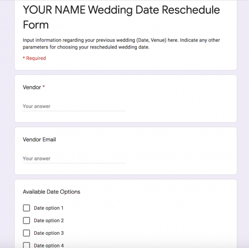 How To Postpone a Wedding (Due To The Coronavirus) via TheELD.com